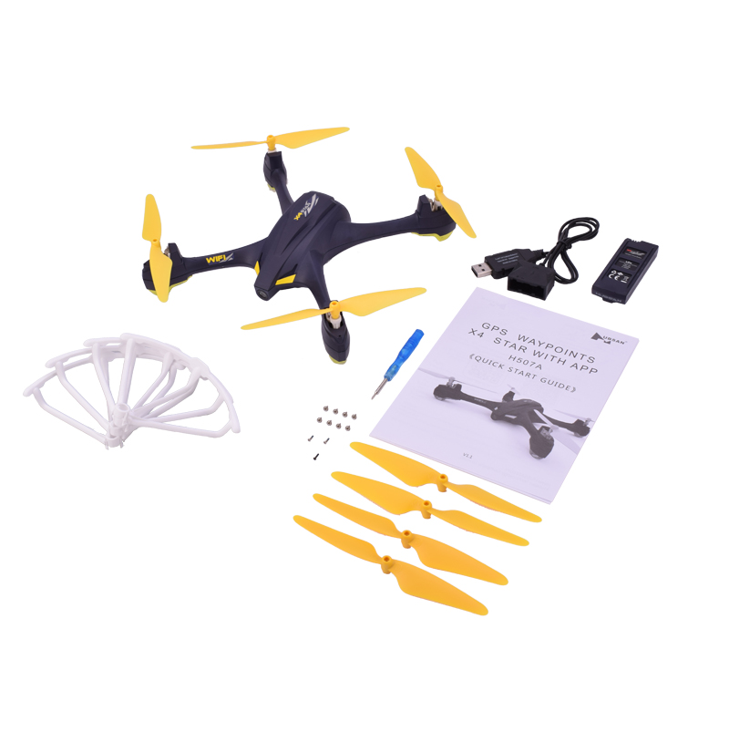 Hubsan H507A X4 Star Pro APP Driven Drone Wifi FPV 720P HD Camera GPS Waypoints RC Quadcopter Helicopter Live Video RTF