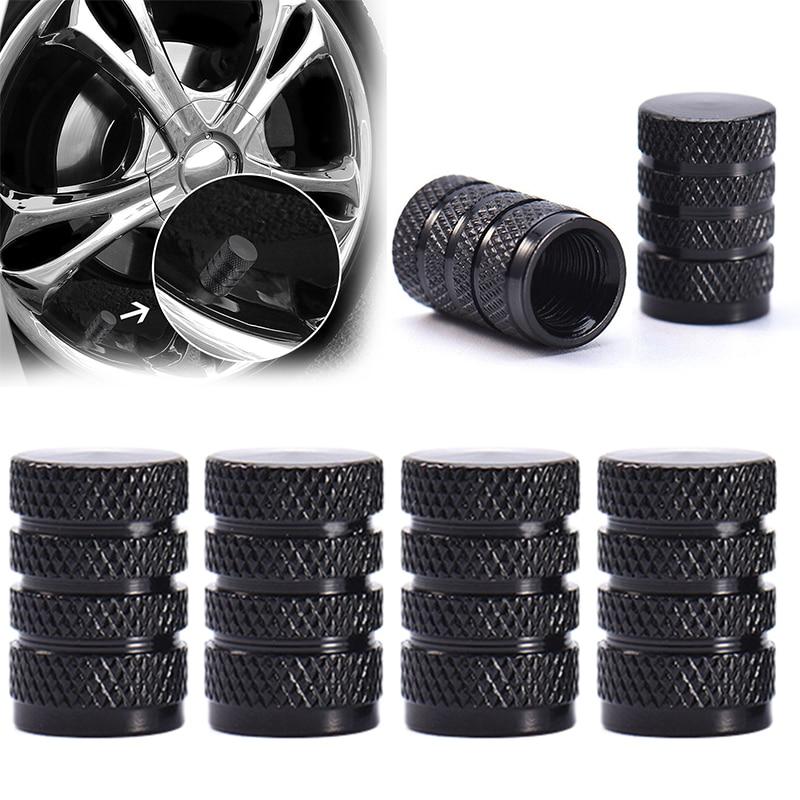 4Pcs Aluminum Car Auto Tire Rim Valve Wheel Air Port Stems Cap Cover Accessories