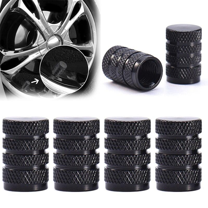HOT Car Styling 4PCs Aluminium Auto Tire Valve Caps Bullet Design Air Port Cover Vehicle Truck Tire Rim Wheel Stem Cap