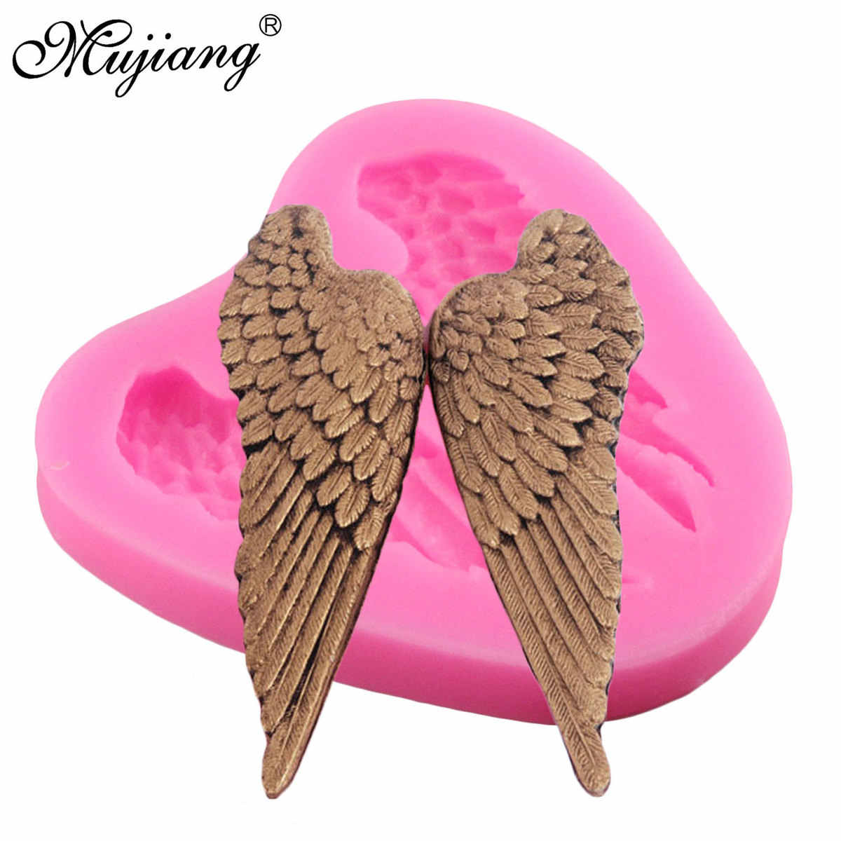 Angel Wing Silicone Mold Jelly Fondant Gum Paste Chocolate Craft Candy Polymer Clay Molds Cupcake Baking Cake Decorating Tools