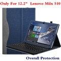 """Новый Планшетный Ноутбук Обложка Для Lenovo 12.2 """"Miix 510 Miix5 Miix510 Чехол Кожаный PU Защитный Кожи Stylus Как Подарок"""