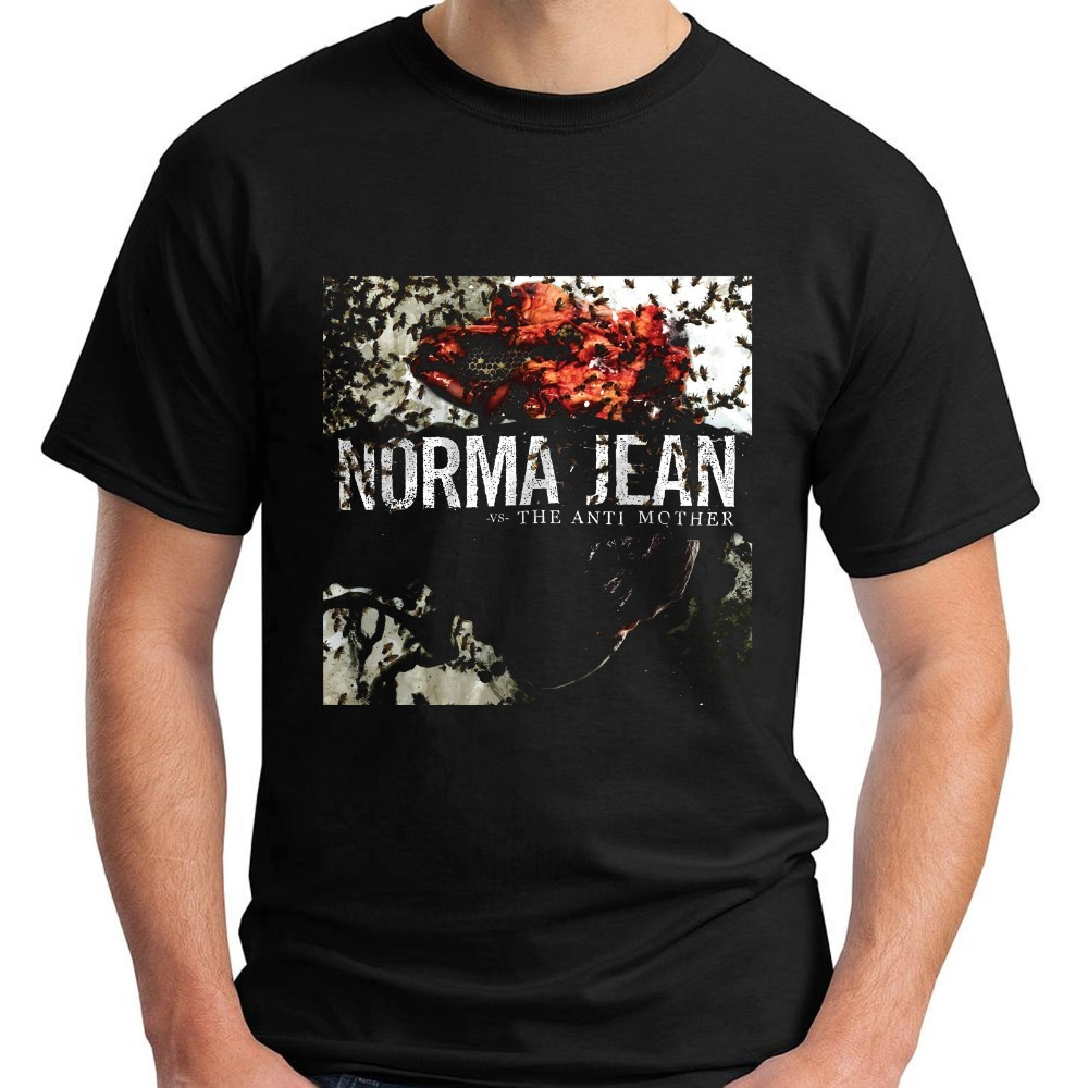 100% Cotton T Shirt For Boy Mens Short NORMA JEAN The Anti Mother Metalcore Band Sleeve Black Mens T-Shirt Size S-3XL Crew