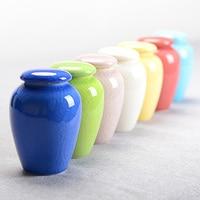 Handmade 7colors Crackle Glaze Ceramic China Storage Bottles Jars The Perfect Preservation Of Food Tea Sugar