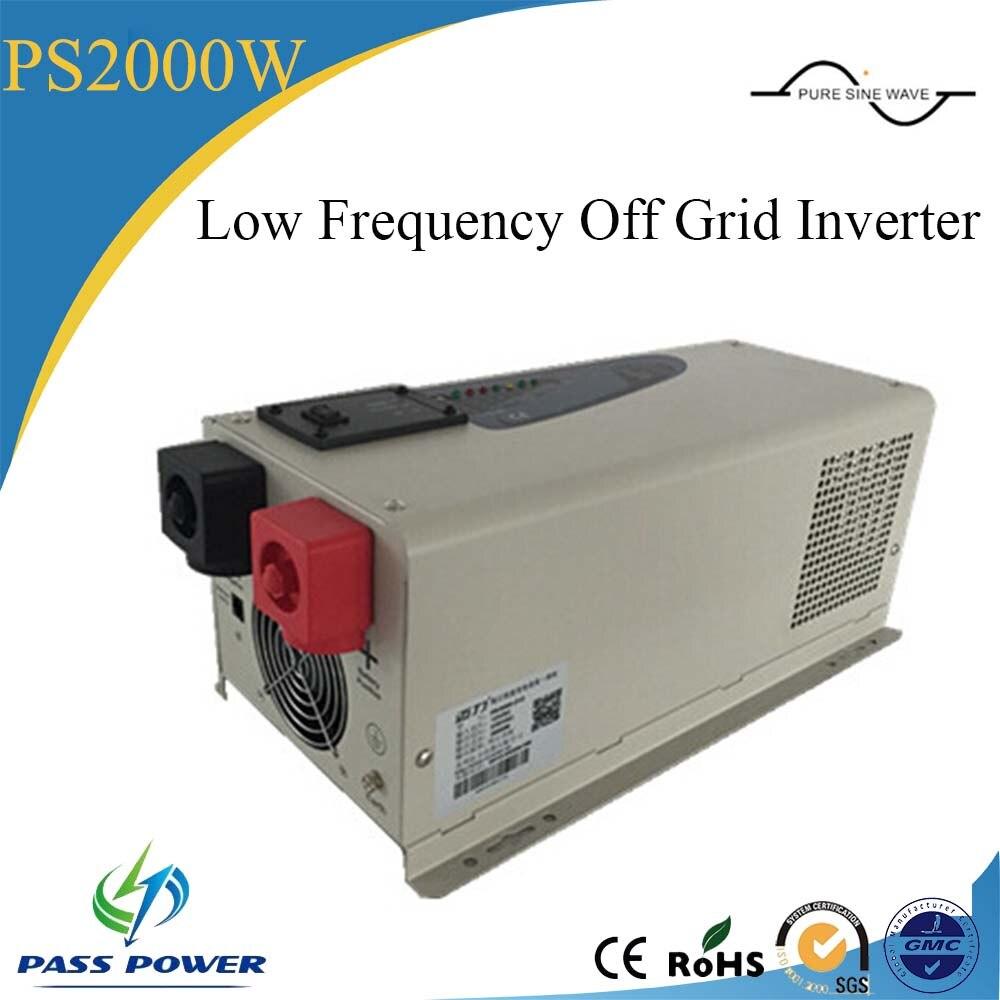 CE ROHS Сертифицированный домашнего использования малой мощности инвертора 2kw Решетки низкой частоты Инвертор 2000 Вт
