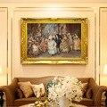 Безрамная картина в европейском дворцовом стиле  картина маслом  украшение для дома  Настенная картина для гостиной  настенная живопись