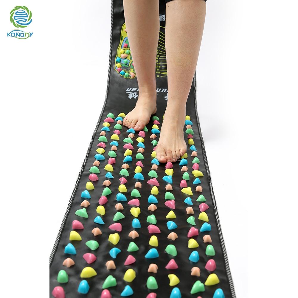 KONGDY Colorful Plastic Foot Massager Pad 1Piece Chinese Reflexology Health Care Mat Acupressure Foot Leg Cobbleston Massageador цены