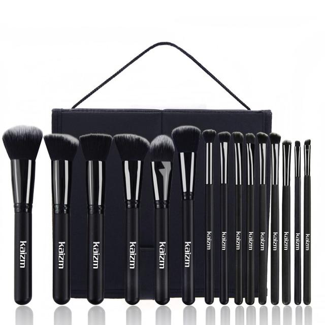 15Pcs  Women's Fashion synthetic Makeup Brushes Set Powder Foundation Eye shadow Cosmetics Beauty Soft Hair Maquiagem Tool Kits 5