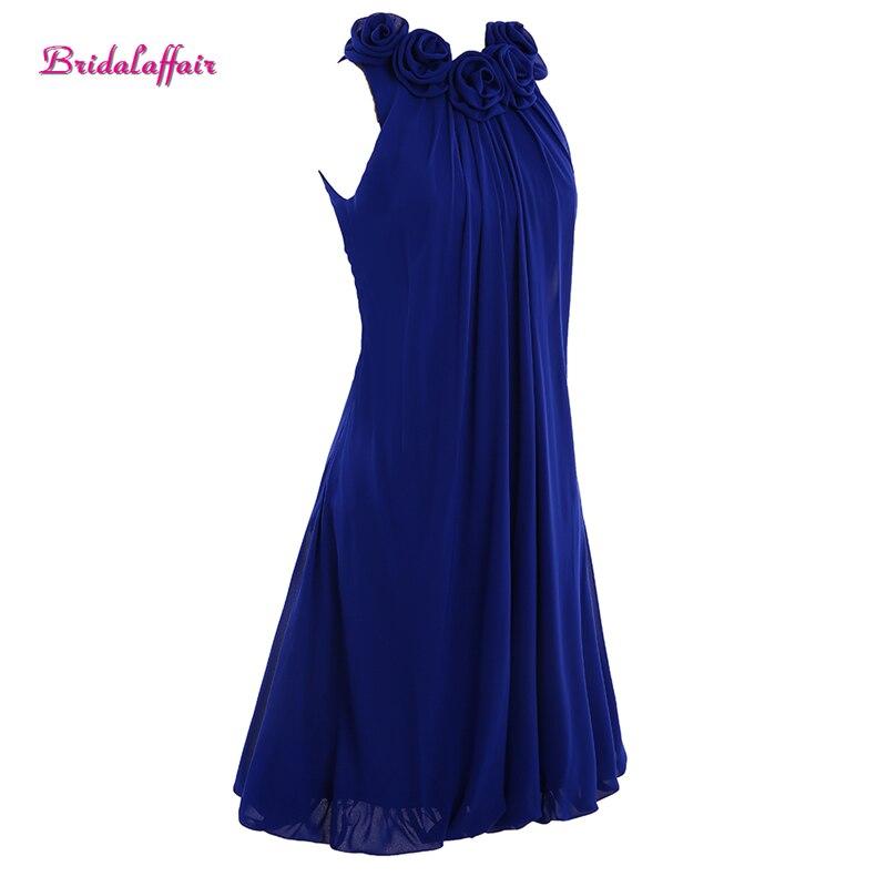 Bridalaffair Real Photo Robe De Soiree Deep Blue Rose Prom Dresses