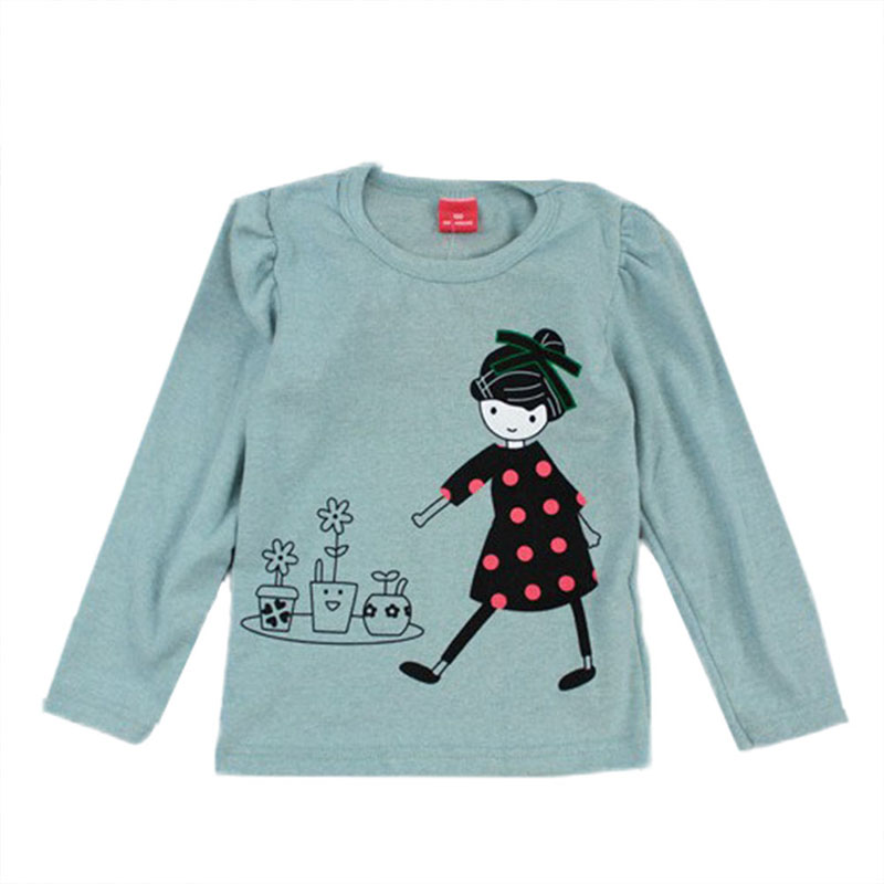 Lovely Cozy Baby Girl Tops Shirt Kids Child Toddler Soft Cotton Fall T-Shirt Tee 2-7 Y