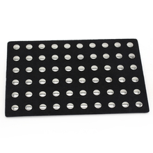 Artificial Leather Metal Button Display Board Unisex DIY Jewelry Fit 60 pcs. 18 mm buttons Buttons ZSB001