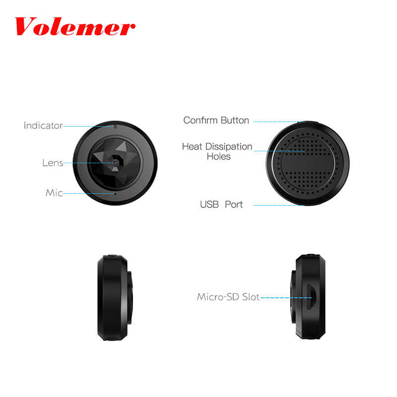 Volemer Wifi Mini Camera 1080P Vehicle Camera Night Version Nanny DVR IP  camera Motion Sensor Cam for Motorcycle Mini Camcorder