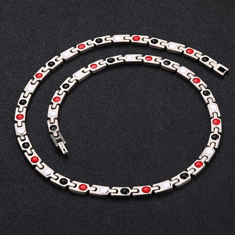 colares para mulheres prata ouro cor energia ímã gargantilha jóias
