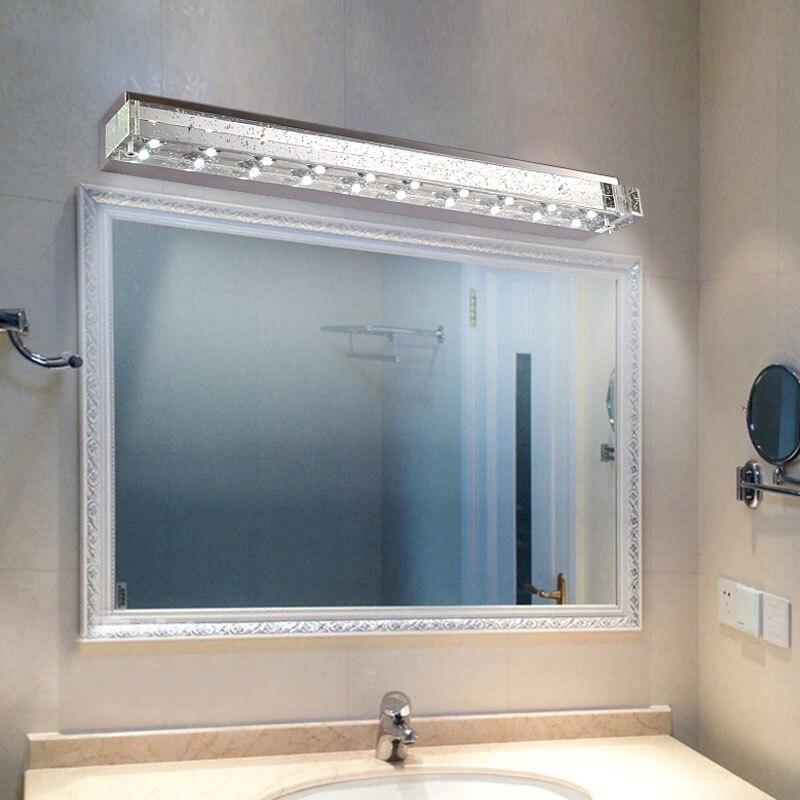 modern bubble crystal tube led bathroom wall sconce high power led crystal washroom wall lamp mirror