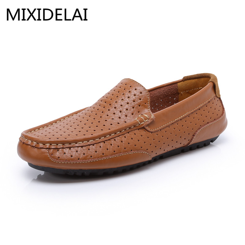 New 2017 Brand High Quality Leather Handmade shoes Man Casual Shoes Men High Quality Fashion Soft Breathable Size 39-44 brand fashion men shoes quality leather loafers eu size 38 44 soft rubber sole man casual driving shoes