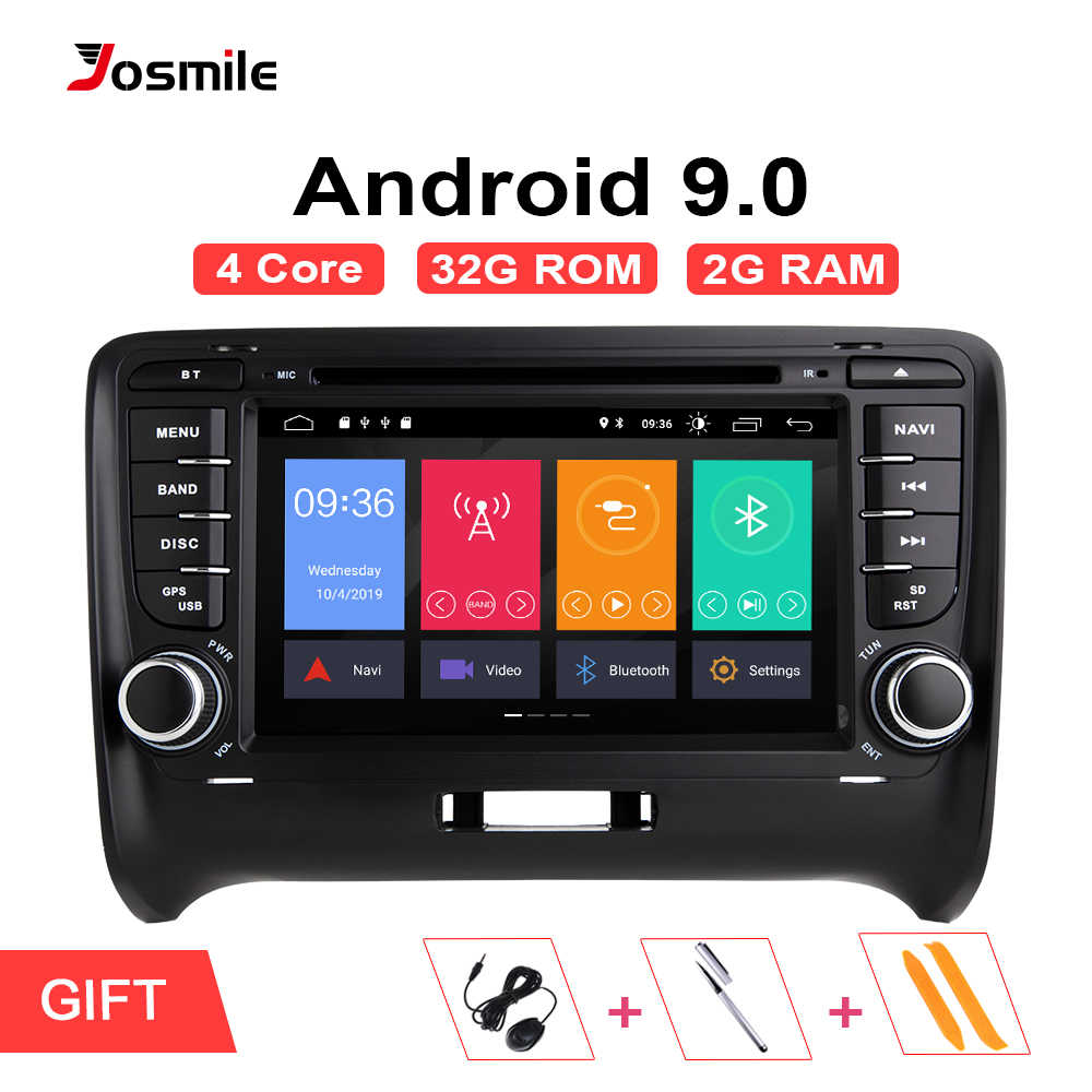 Autoradio do andróide 9.0 do ruído do jogador 2 dos multimédios do carro de josmile para audi tt mk2 8j 2006-2014 sistema de dvd gpsnavigation ips 2 gb 4g wifi
