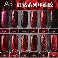 La Nueva Serie Roja Pegamento Aceite Auténtico Rojo Pegamento Aceite Armadura Fototerapia Pegamento Flash Brillo de Esmalte de Uñas
