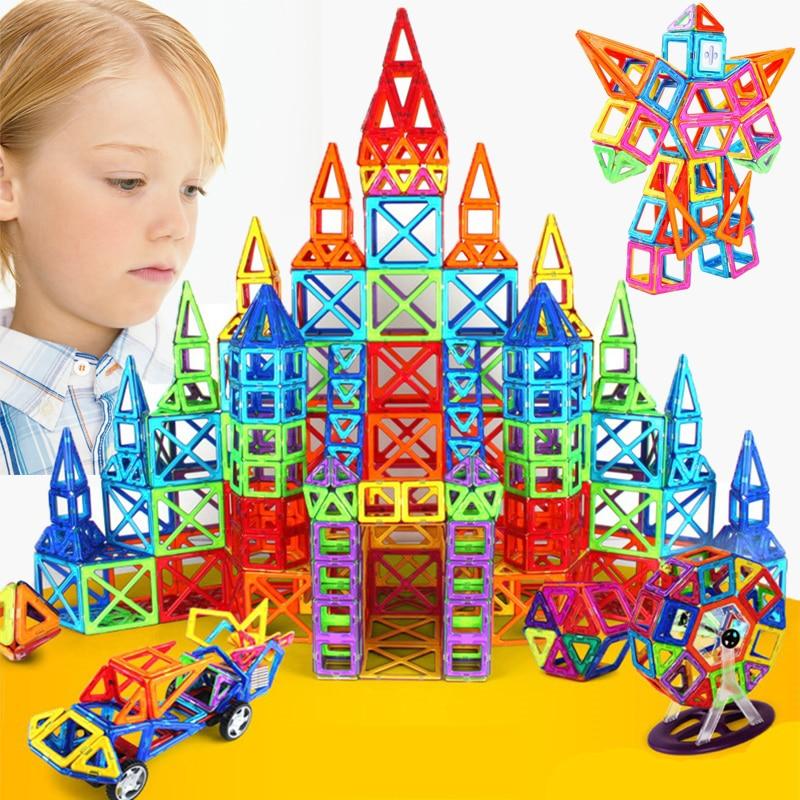252pcs Mini Magnetic Designer Construction Set Model & Building Toy Plastic Magnetic Blocks Educational Toys For children gifts