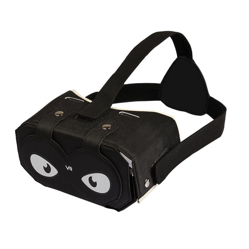 Julyfox <font><b>PU</b></font> <font><b>leather</b></font> <font><b>DIY</b></font> <font><b>VR</b></font> Headset V2 <font><b>Virtual</b></font> <font><b>Reality</b></font> Box 3D <font><b>Glass</b></font> For 4-6 inch Smartphones