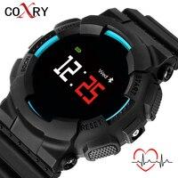COXRY Big Sport Smart Watch Men Heart Rate Blood Pressure Electronics Digital Watch Waterproof LED Military Clock Men Smartwatch