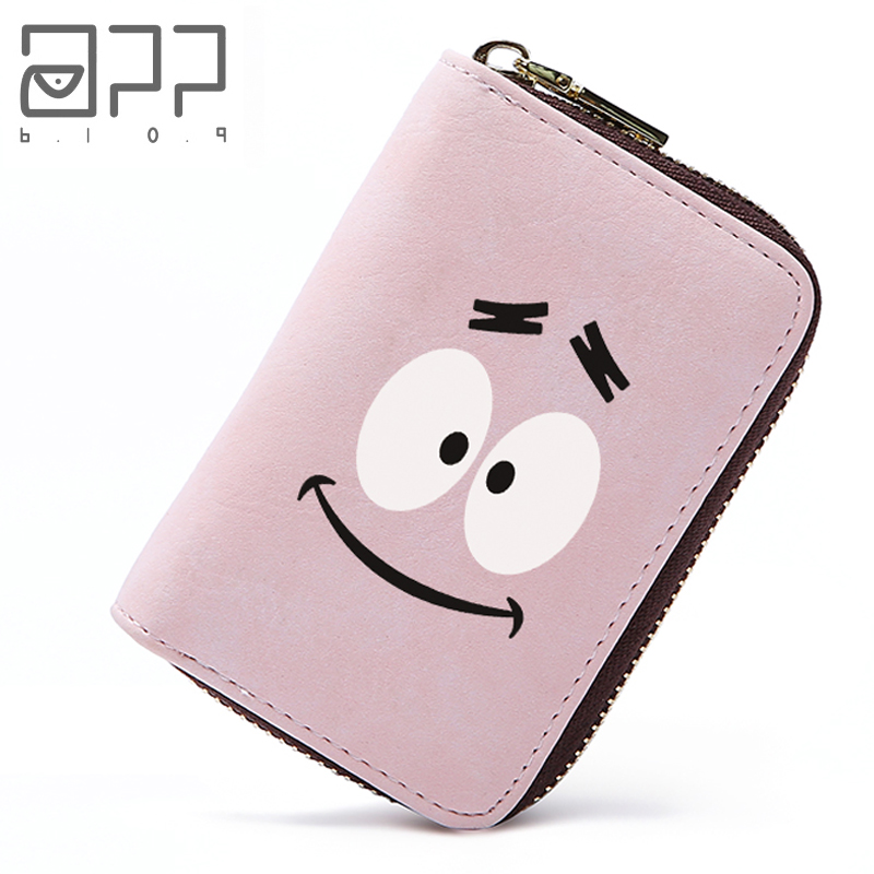 APP BLOG Cute Big Eyes Women Card Bag 2018 New Arrive Zipper Credit ID Cards Holder Case Extendable Small Wallet Coin Purse app blog women men credit id card holder case extendable business bank cards bag small wallet coin purse carteira mujer male