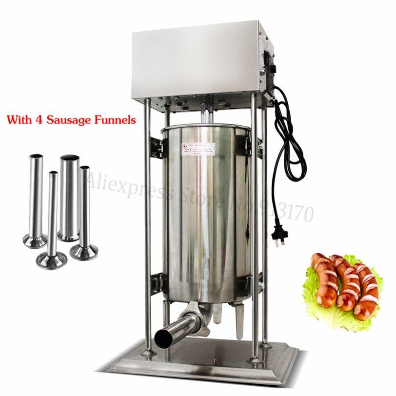 20L Электрический Нержавеющаясталь колбаса, Мясорубка коммерческие автоматического колбасный шприц машина для тяжелых условий эксплуатац