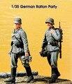 Os Kits de resina 1/35 SEGUNDA GUERRA MUNDIAL alemão ração incluem 2 soldados Resina Modelo DIY BRINQUEDOS novo SEGUNDA GUERRA MUNDIAL WW2