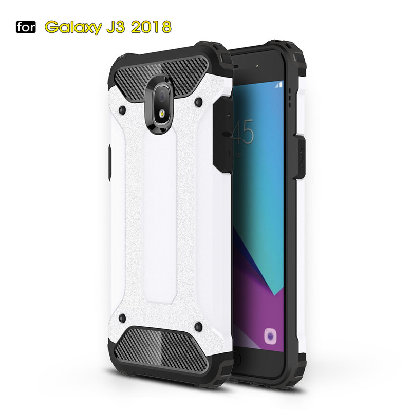Galleria fotografica Fecoprior Back Cover For Samsung Galaxy J3 2018 GalaxyJ3 J 3 Case TPU Silicon PC Fundas Coque Celulars Capa Cool