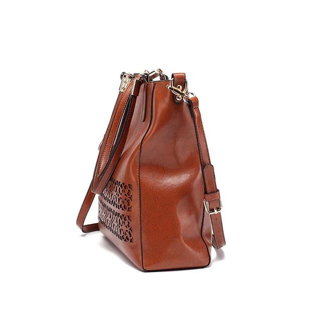 Shoulder Bag Hollow Leather