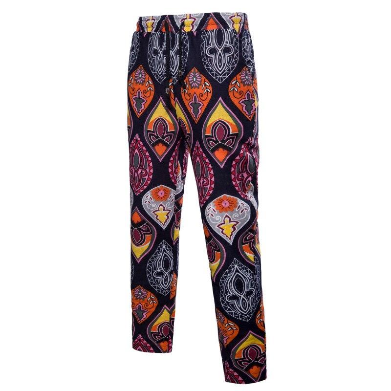 Male Hawaiian Floral Pattern Narrow Feet Pants Fashion Casual Drawstring Print Trousers Mens Hot Sale Plus Size 5XL Sumer Pants