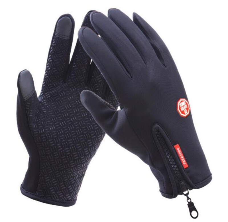 Waterproof Motorcycle Gloves Windproof Touch Screen Guantes Moto Luvas Autumn Winter Warm Fleece Lined Gloves in Gloves from Automobiles Motorcycles