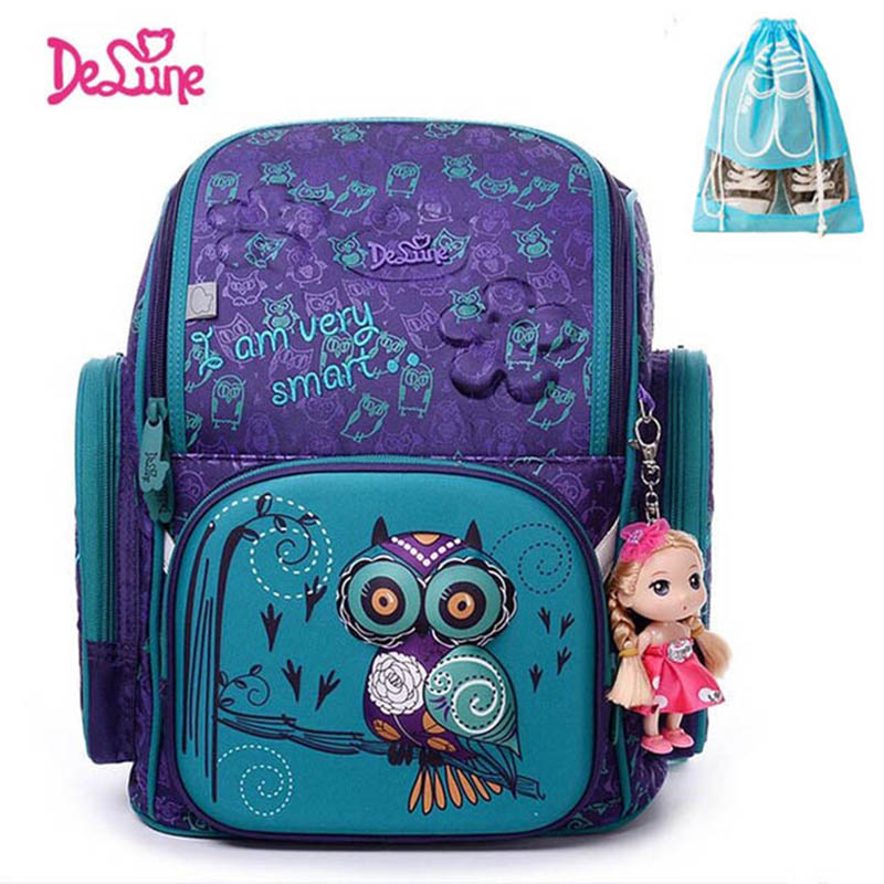 New Girl School Bags 3D Cute Bear Flower Pattern Waterproof Orthopedic Backpack Schoolbag Mochila Infantil ...
