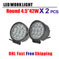 2 pcs 42W 4.5 inch CR EE Chips 4D Led Work Light Flood/Spot LED Offroad Driving Light SUV ATV UTV 4WD 4X4 Led Fog Lamp 12V 24V