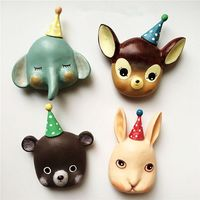 New Japanese Creative Cute Circus Small Animal 3D Refrigerator Fridge Magnets Tourism Souvenirs Magnetic Stickers Home