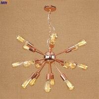 Iwhd Лофт Стиль лампе Винтаж Открытый Подвесные Светильники светильники паук wrount гладить ретро LED Эдисон промышленного светильник подвесной