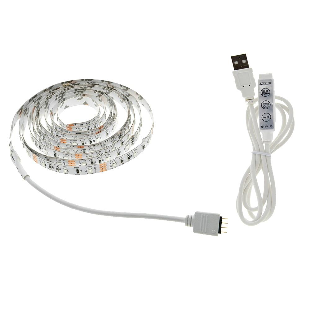 USB LED Strip 5050 3528 Կասետային DC5V - LED լուսավորություն - Լուսանկար 1