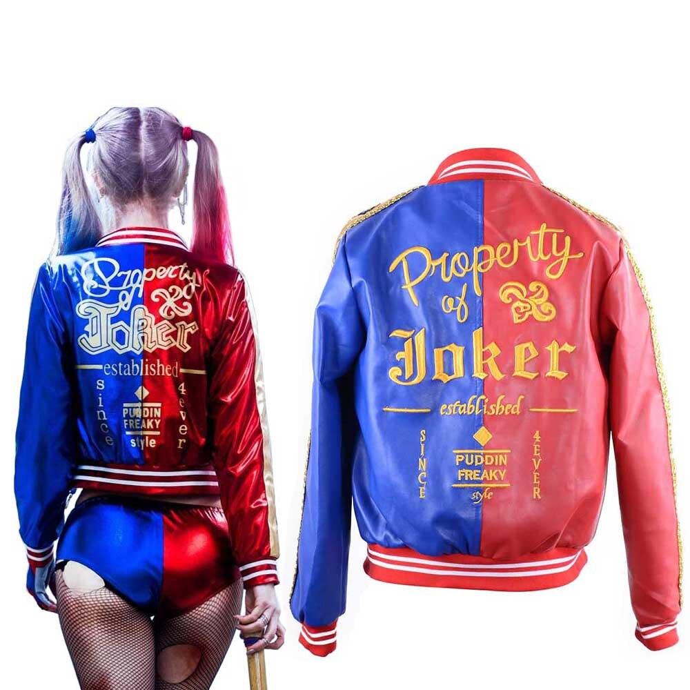 Chaqueta Harley Traje De Bordado Propiedad Quinn Joker 5qYA6