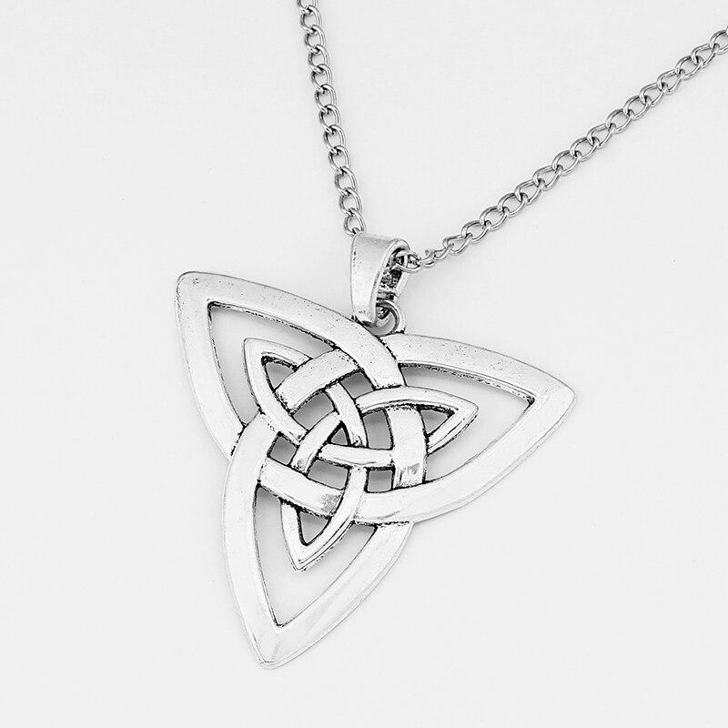 Collar colgante con encantos de plata tibetana con 95cm+4cm Cadena de Metal extender 1 un