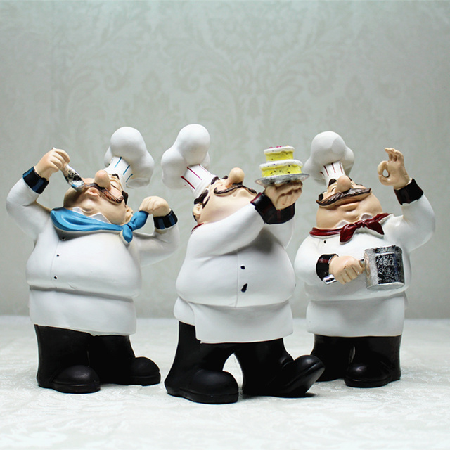 European Cook Ornaments Creative Resin Chef Statue Restaurant Bar Cafe  Kitchen Dining U0026 Bar Decorations Ornaments