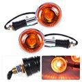 Motocicleta 2 Unids/lote Izquierda y Derecha Luz de Señal de Vuelta Blinker Indicador lente de orange fit para yamaha road star virago v estrellas XJ700X