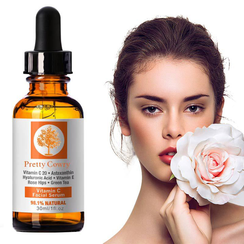 Vitamin C Essence Hyaluronic Acid Whitening  Natural Face Serum Anti-wrinkle Anti-aging Solve A Series Of Skin Problems