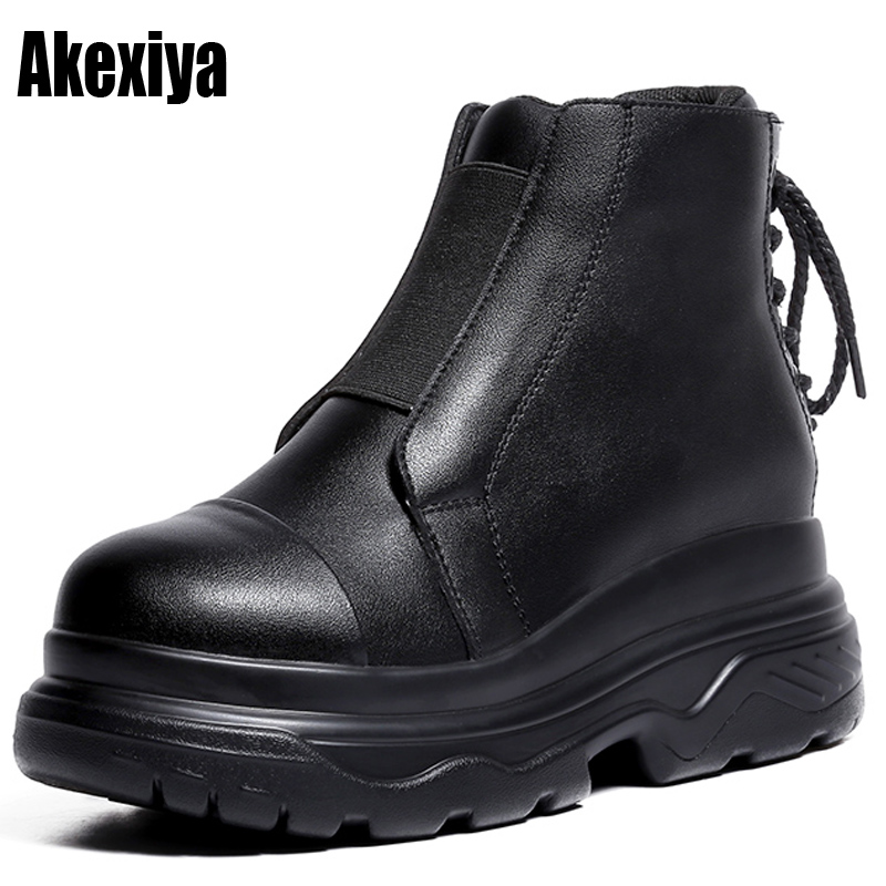 22e44302d2f 2019 Fashion Women Ankle Oxford Boots Spring winter Western Martin Rain  Shoes Woman Super Cool Low Heels Female Platform Boot