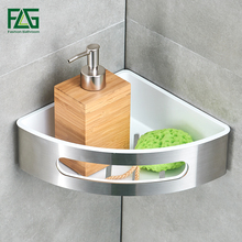 FLG Bathroom Shelf 304 Stainless Steel & ABS Plastic Single Tier Bathroom Storage Basket Wall Shelf Bathroom Rack srj bathroom corner shelf 304 stainless steel bathroom toiletries storage rack single double rustproof storage triangle shelf
