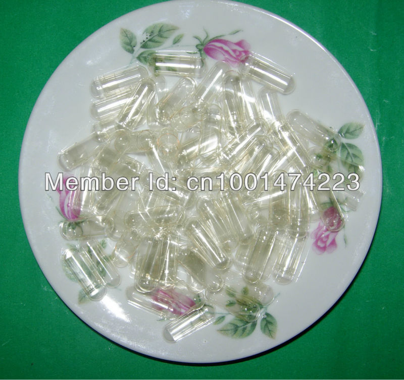 00 10 000pcs Clear transparent Empty Capsule size 00 Hard Gelatin Empty Capsules Joined or seperated