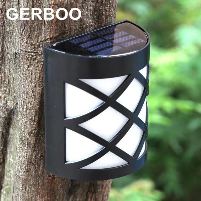 GERBOO 2016 NIEUW Solar Lampen 6 LED Solar Fence Gutter Lights - Buitenverlichting