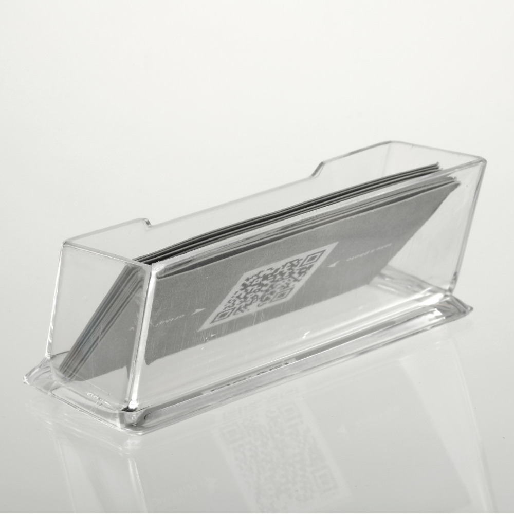 1pcs Display Stand Acrylic Plastic New Clear Desktop Business Card ...