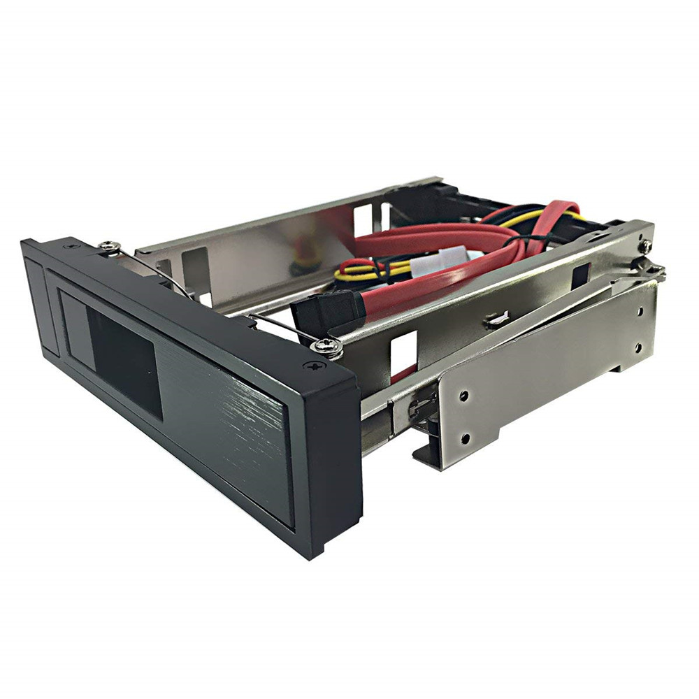 Internal 5.25 Inch CD-ROM HDD Mobile Rack Mounting Bracket Frame Enclosure With SATA Cable For 3.5 Inch SATA I/II/III Hard Drive