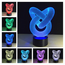 Современный светодиодный 3D светильник, потрясающий 3D светодиодный светильник, настольный ночник, 3d светильник, светодиодные настольные лампы