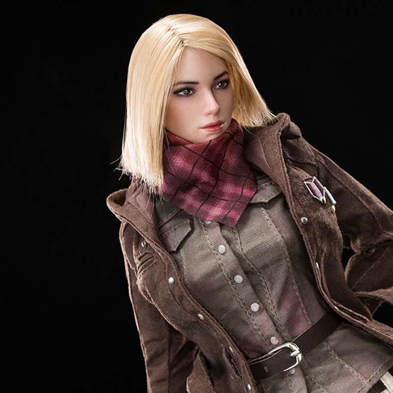 Mnotht MS002 1/6 Grande Fuga Giacca A Vento Femminile Assassino Cappotto Marrone/camicette Vestiti di Vestito Modello per 12in Soldier Action Figure m3n