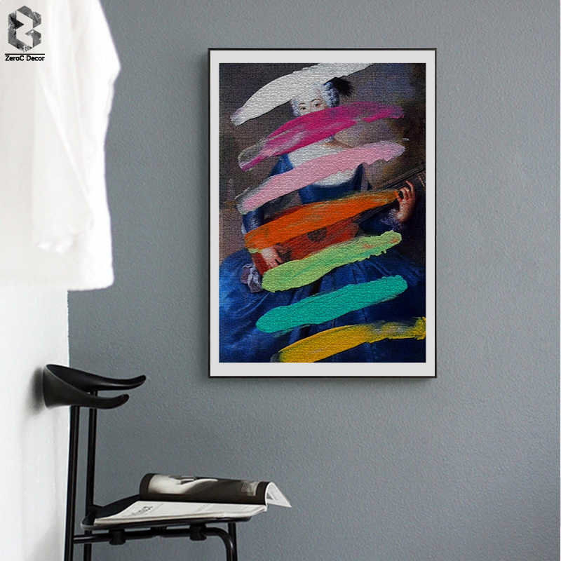 Classic Painting Posters and Prints Wall Art Abstract Canvas Paintings Wall Pictures For Living Room Home Decoration
