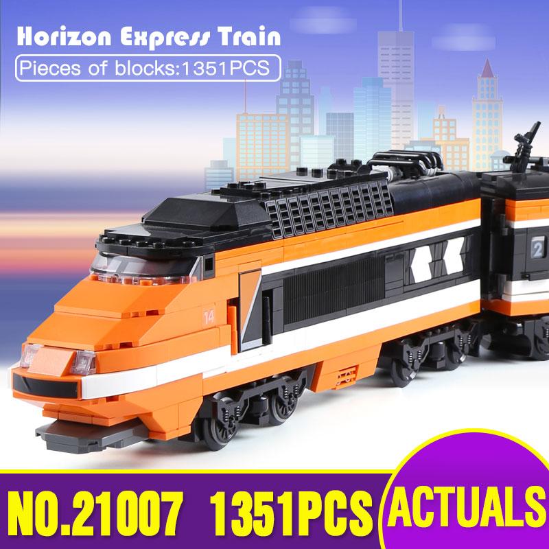 Lepin 21007 Technic Series The Horizon Express Model 10233 Horizon Train Educational Building Blocks Bricks Legoing Toys as Gift